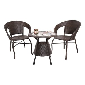 Outdoor Brown Color Chair And Table (D12 Set)