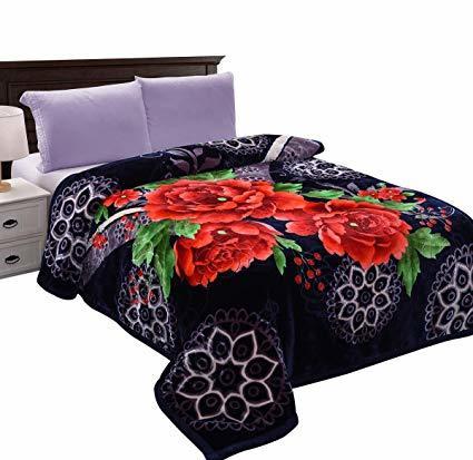Rose Printed Mink Blanket