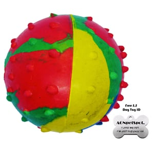Rubber Musical Ball Dog Toy