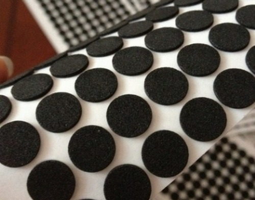 Black Silicone Rubber Foot Pad Self Adhesive Sheet Gasket Pad