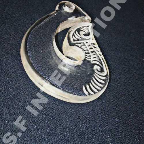 White Acrylic Matau Necklace
