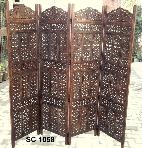 Antique Wooden Screen Or Panel