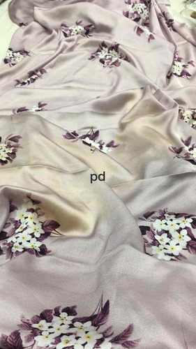 Ladies Floral Satin Saree
