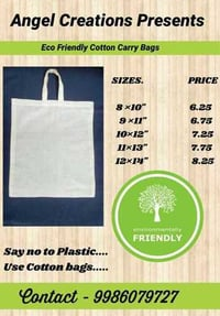 100% Natural Cotton Carry Bags