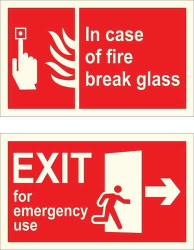 Fire Safety Instruction Signages