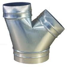 Round Silver Colour HVAC Fitting