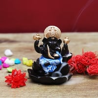 Lord Ghanesha Statue Back Flow Dhoop Cone