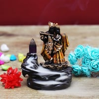 Radhe and Krishna Statue Back Flow Incense Holder