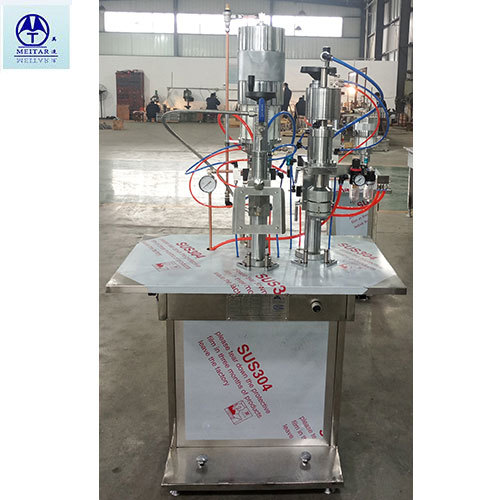Crimping And Gassing Machine For Lpg, Butane Gas Application: Medical