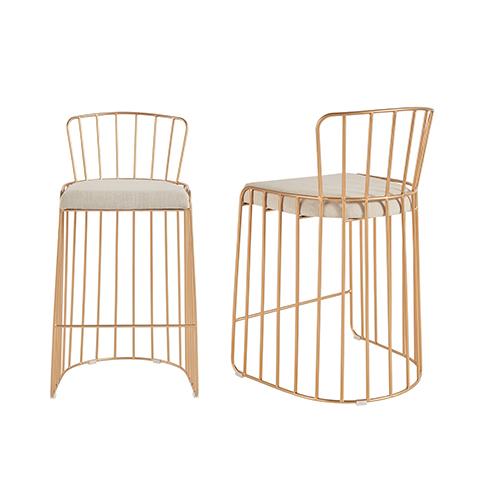 Industrial Metal High Chair