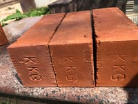 Solid Red Wire Cut Bricks