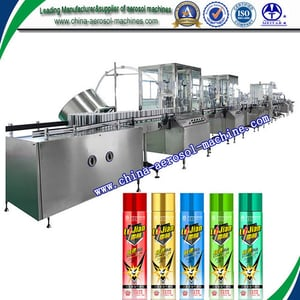 Automatic Aerosol Can Filling Machine for Insecticide, Pesticide