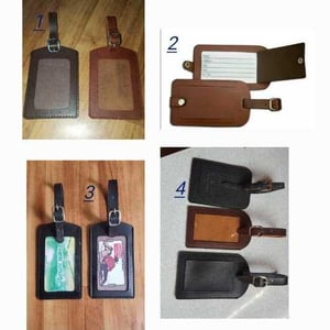 Fancy Leather Luggage Tags