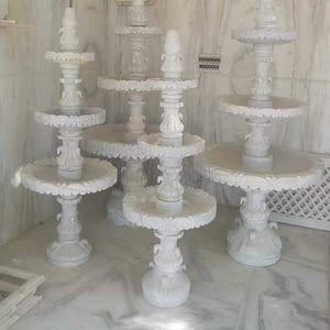Handcrafted White Marble Fountain