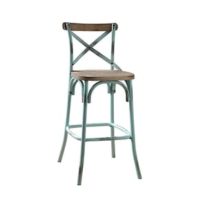 Metal and Wooden Bar Chair