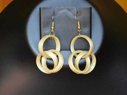 Precise Design Earrings Bamboo
