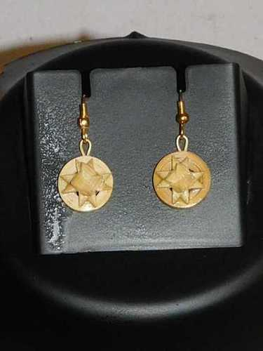 Star Designer Bamboo Earrings