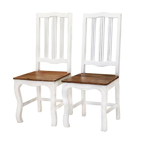 White Painted Sheesham Wooden Chair