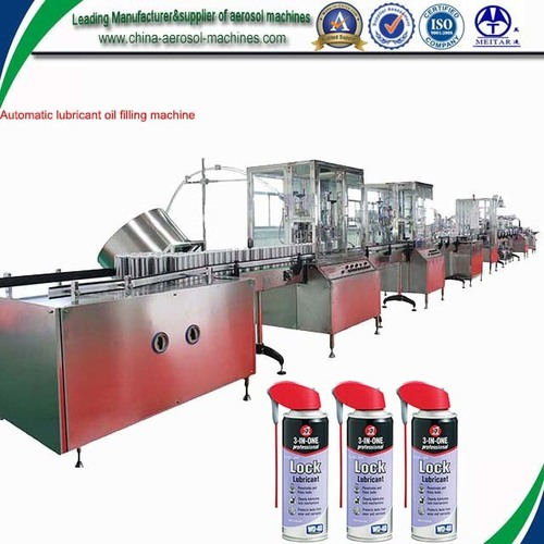 Fully Automatic Aerosol Can Filling Machine for Lubricant, Lube Oil