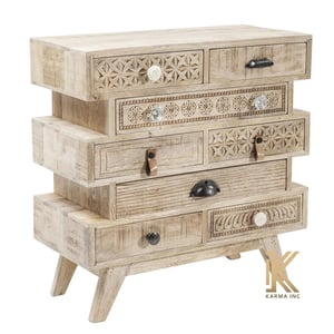 Mango Wood Hand Carving Chest