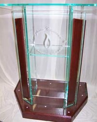 Durable Transparent Acrylic Podium
