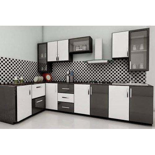 L Shape Modular Kitchen Design At Price Range 80000 00 120000 00 Inr Unit In Noida R B Engineering Works