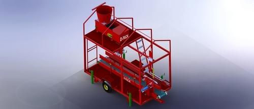 Maize Corn Silage Beet Pulp TMR Base Single Machine
