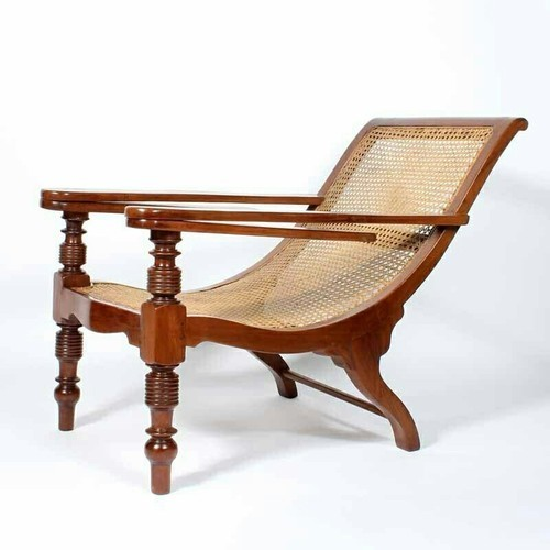Antique Wooden Easy Chair