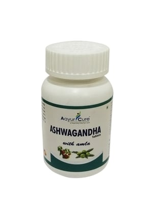 Ayurcure Pure Herbs Ashwagandha With Amla For Muscles Booster 60 Tablets