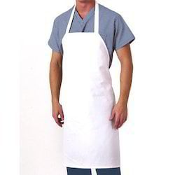 White Color Industrial Aprons