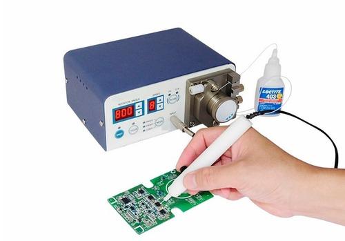 Blue Squirm Dispenser Peristaltic Cyano Acrylate Dispenser