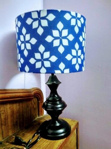 Blue White Drum Lamp Shade
