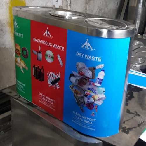 SS Trio Waste Segregation Dustbin