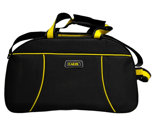 Caris Black Yellow 20 Inch Duffel Bag