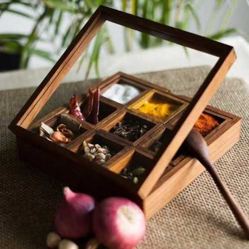 Designer Wooden Spice Box