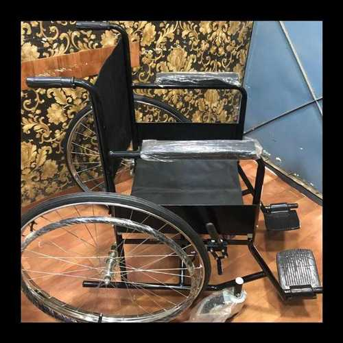 Hospital Folding Steel Wheelchair