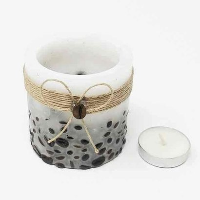 White Coffee Beans Hollow Candle