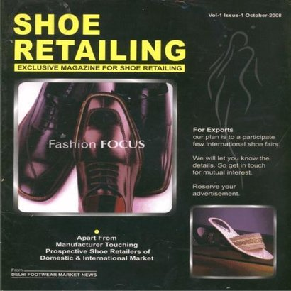 Glossy Paper Exclusive Magazine For Shoe Retailing