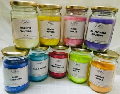 Multicolor Scented Jar Candles With Premium Fragrances