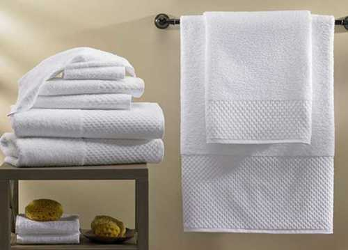 Plain White Hotel Bath Towels