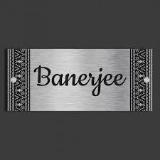 Rectangular Stainless Steel Etched Name Plate