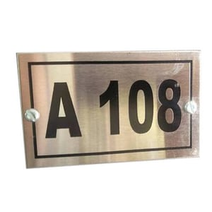 Silver Steel Etching Name Plate
