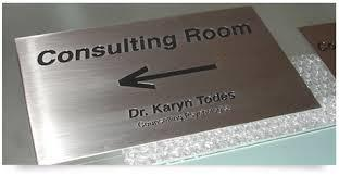 Stainless Steel Engraved Sign