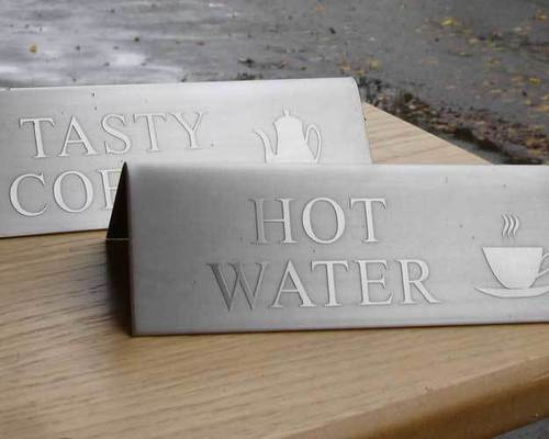 Stainless Steel Signs - Etched Metal