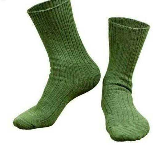 Plain Army Cotton Socks