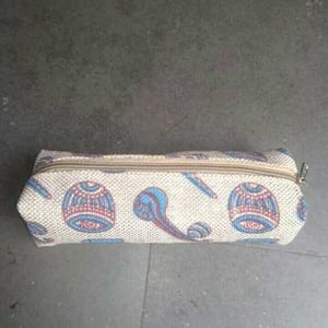 Printed Jute Pencil Pouch