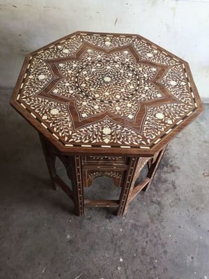 Wooden Bone Inlaid Table Top