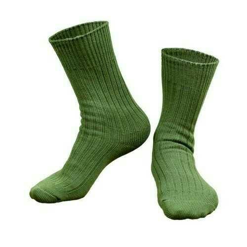 Plain Army Cotton Sock