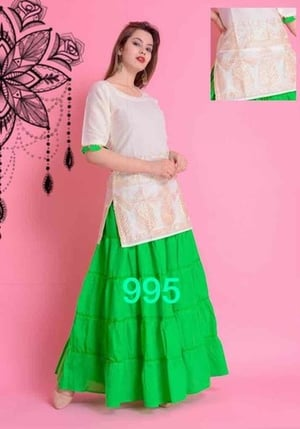 Cotton Top With Skirt