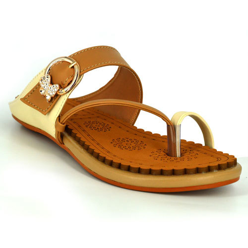 Multicolor Flats Chappals For Ladies at